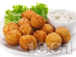 Байганети със сирене/кашкавал/пилешко месо панирани в паста  - снимка на рецептата